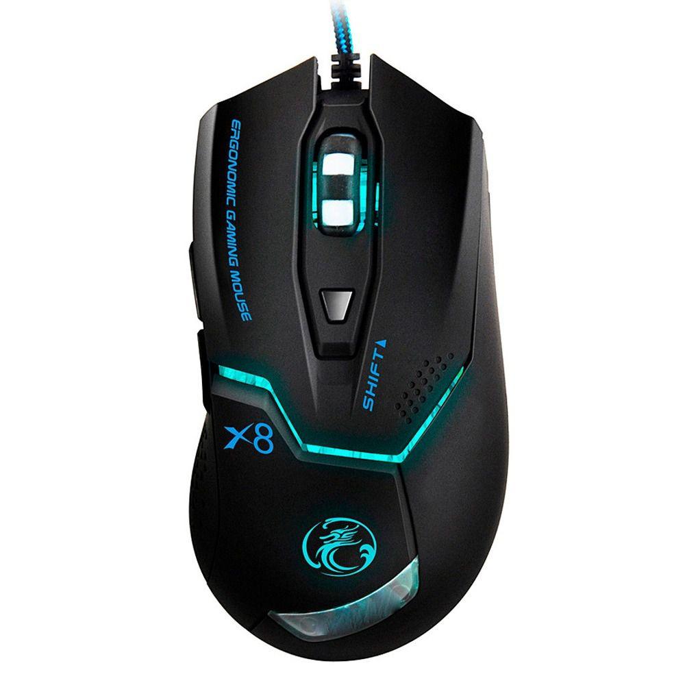 Mouse Com Fio B-max X8 Com Led   - Mega Computadores