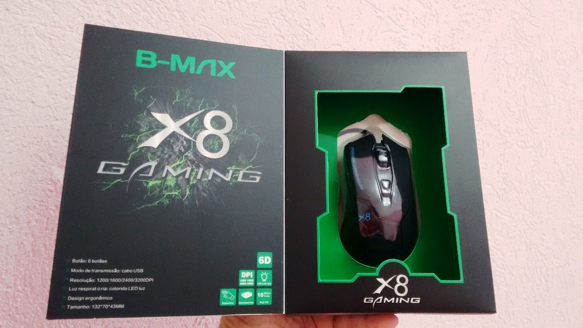 MOUSE GAMER B-MAX X8  - Mega Computadores