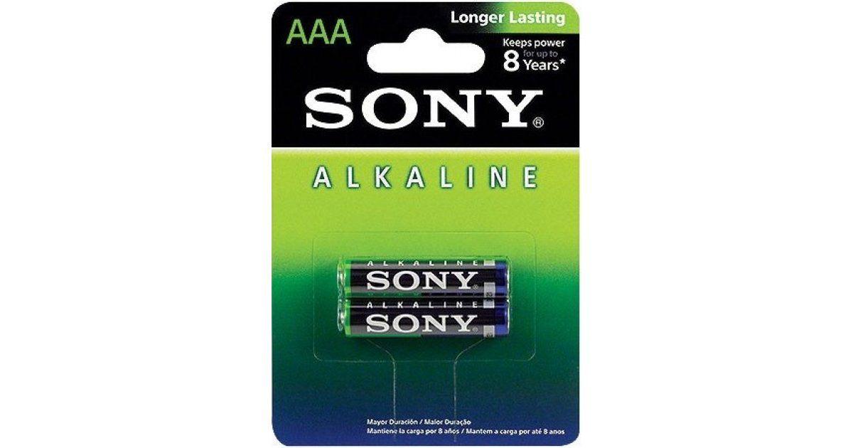 Par de Pilhas AAA Sony Alcalina AM4L-B2D 1.5V  - Mega Computadores