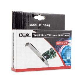 Placa De Rede Dex DP-02 PCI-EXPRESS 10/100/1000MBPS, 4328  - Mega Computadores