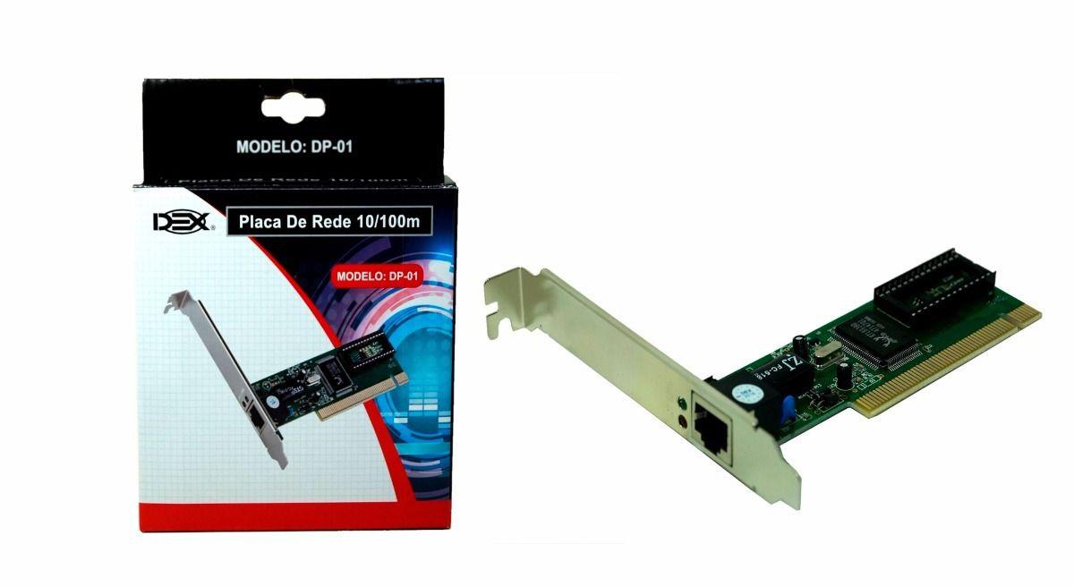 Placa De Rede PCI 10/100 DP-01 DEX (DP-01)  - Mega Computadores