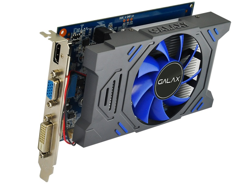 Placa de Vídeo Galax GT 730 73GGH4HXB2TX 1GB 64-bit DDR5 5000MHz/954MHz 384 Cuda Cores  - Mega Computadores