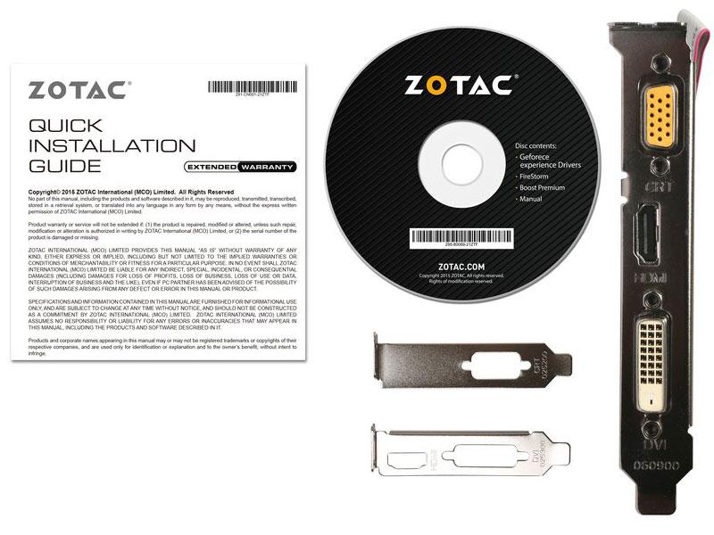 Placa de vídeo NVidia Geforce GT 710 1GB 64-Bit GDDR3 Zotac ZT-71301-20L - 192CUDAs  - Mega Computadores