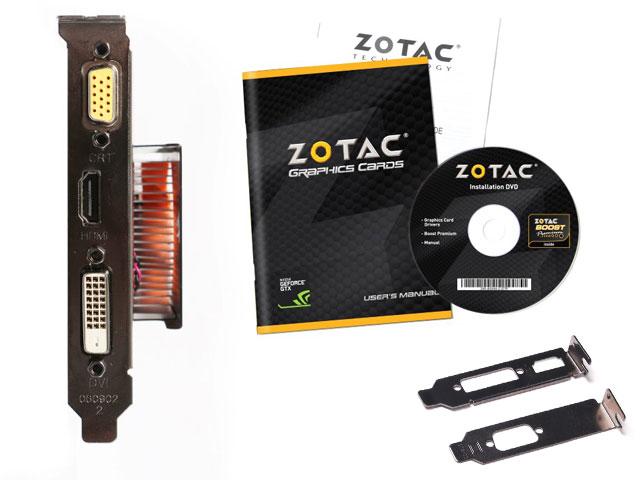 Placa de vídeo NVidia Geforce GTX 750 1GB 128-Bit GDDR5 Zotac - 5000MHz - GPU 1033MHz - 512 CUDA Cores - Low Profile - HDMI/DVI/VGA  - Mega Computadores