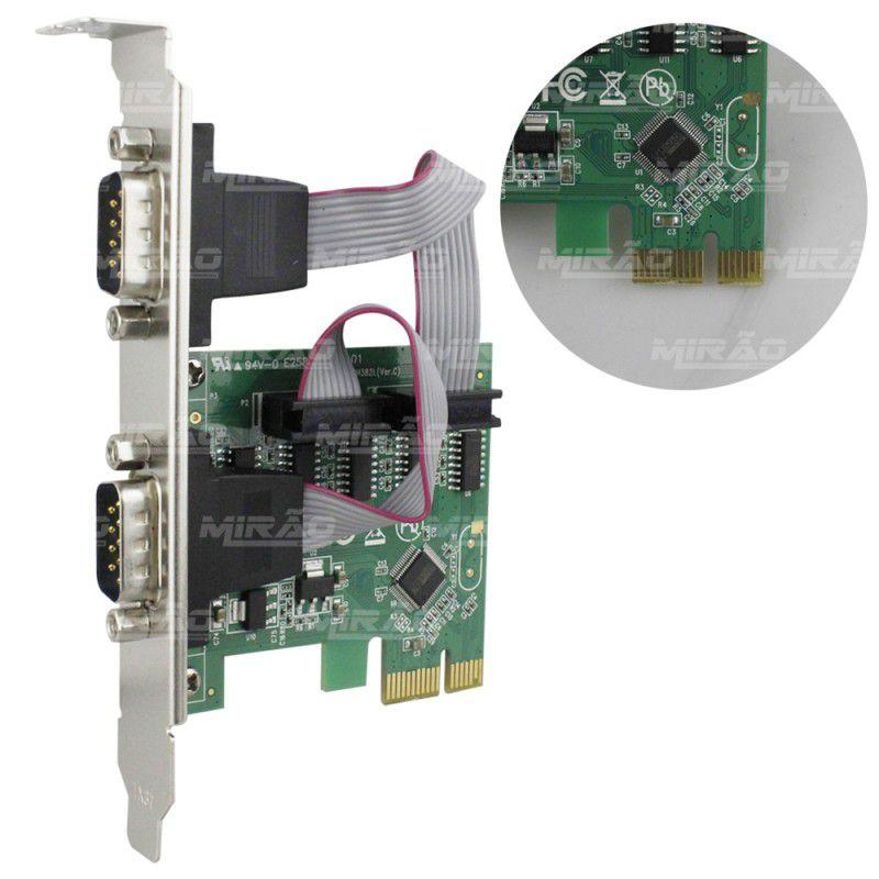 Placa Pci Express Serial 2 Portas Db9 - Kp-t89  - Mega Computadores