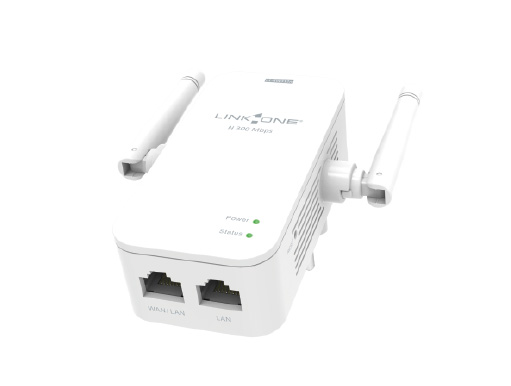 Roteador/Repetidor Wireless Link One L1-RW312N 300Mbps/2 Antenas Externas Omnidirecionais/2x LAN/1x WAN  - Mega Computadores
