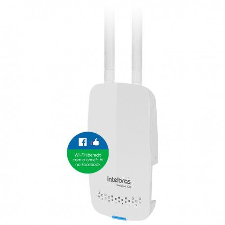 Roteador Wireless Intelbrás Hotspot 300 Com Check-in no Facebook  - Mega Computadores
