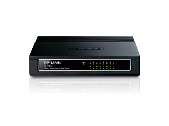 Switch de Mesa TP-Link TL-SF1016D 16 Portas 10/100Mbps  - Mega Computadores