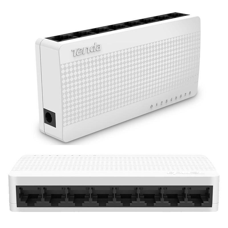 Switch Tenda S108 8 Portas Ethernet 10/100mbps  - Mega Computadores