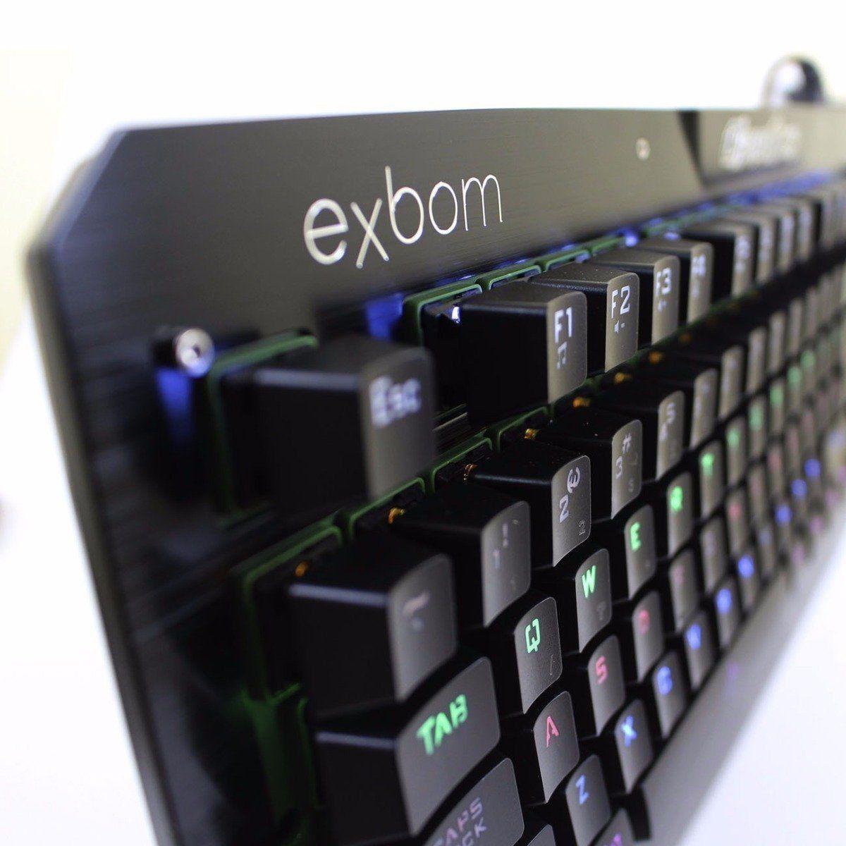 Teclado Mecânico Exbom Bk-gx1 C/ Iluminação De Led  - Mega Computadores