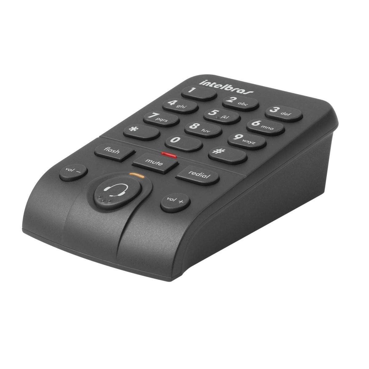 Telefone Headset Intelbras HSB 50 Com Base Discadora  - Mega Computadores