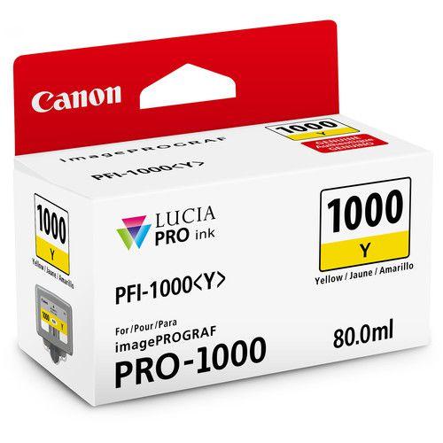 Cartucho de Tinta Canon LUCIA PRO INK PFI-1000 (Amarelo 80ml)