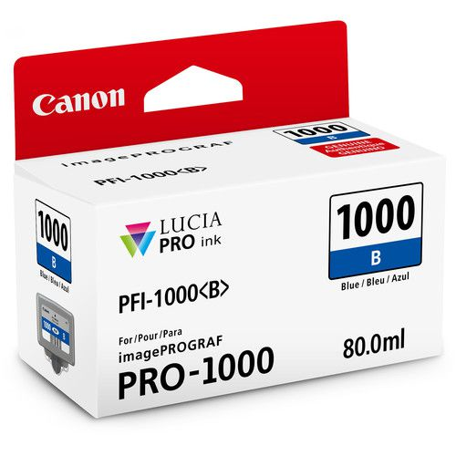 Cartucho de Tinta Canon LUCIA PRO INK PFI-1000 (Azul 80ml)