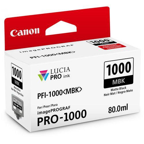 Cartucho de Tinta Canon LUCIA PRO INK PFI-1000 (Matte Black 80ml)