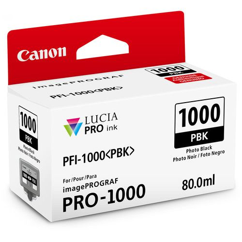 Cartucho de Tinta Canon LUCIA PRO INK PFI-1000 (Photo Black 80ml)