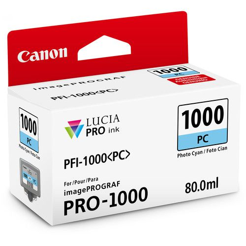 Cartucho de Tinta Canon LUCIA PRO INK PFI-1000 (Photo Ciano 80ml)