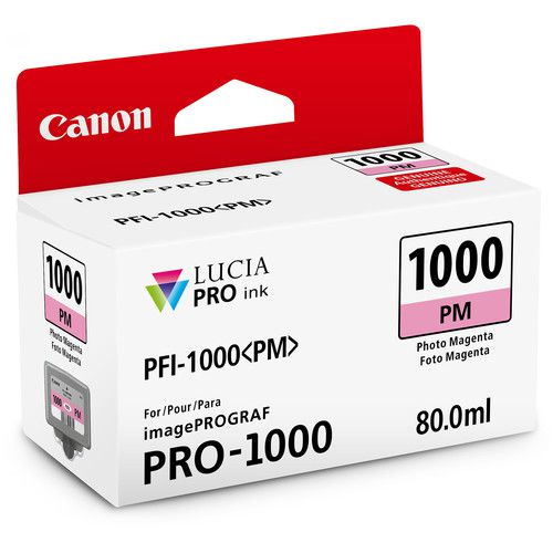 Cartucho de Tinta Canon LUCIA PRO INK PFI-1000 (Photo Magenta 80ml)