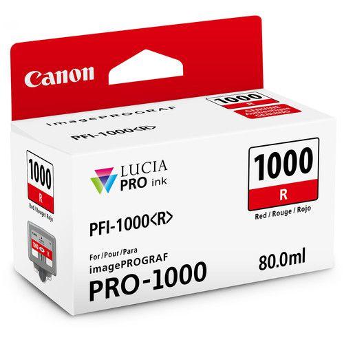 Cartucho de Tinta Canon LUCIA PRO INK PFI-1000 (Vermelho 80ml)