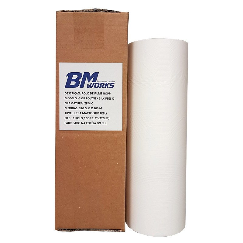 Filme BOPP 28mic Silk Feel Q (1RL) 320mm x 100m