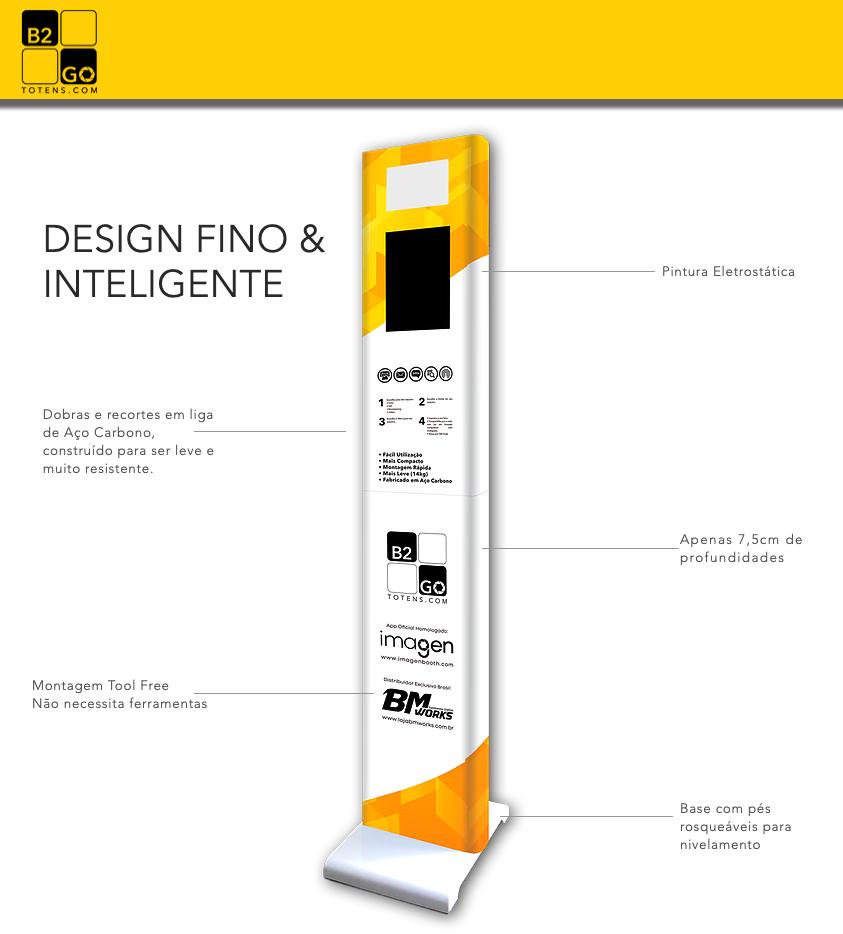 KIT 5: Totem B2GO + Impressora DNP RX1HS