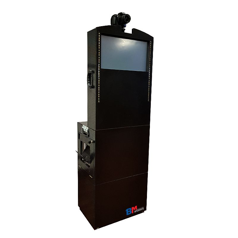 Totem Fotográfico (BLACK) Webcam FullHD (SEM) Impressora DNP RX1