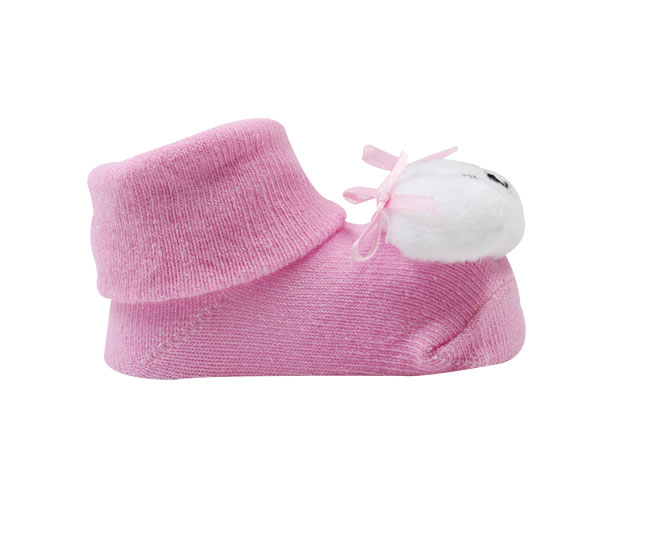 Meia Sapatilha  Bebê Cachorrinho Rosa  Pimpolho