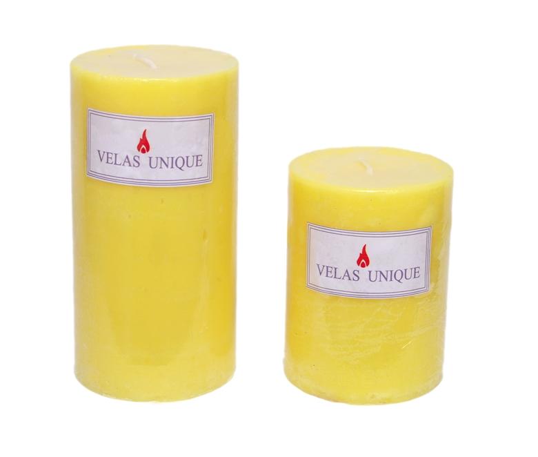 Dupla de velas cilincricas 7,5 citronela