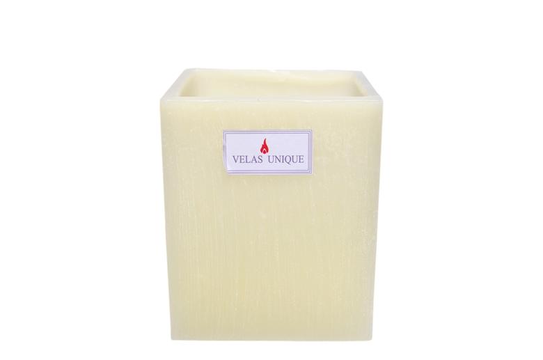 luminária quadrada 15x20 marfim