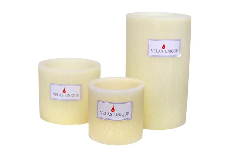 trio de luminárias cilíndricas marfim