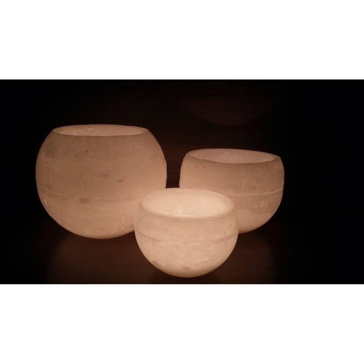 trio de luminárias bola marfim