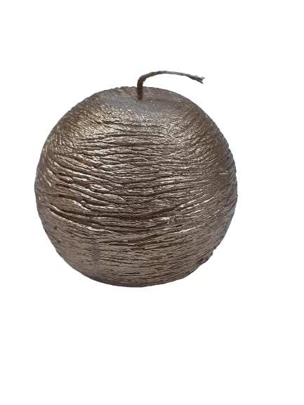 Vela bola dourada