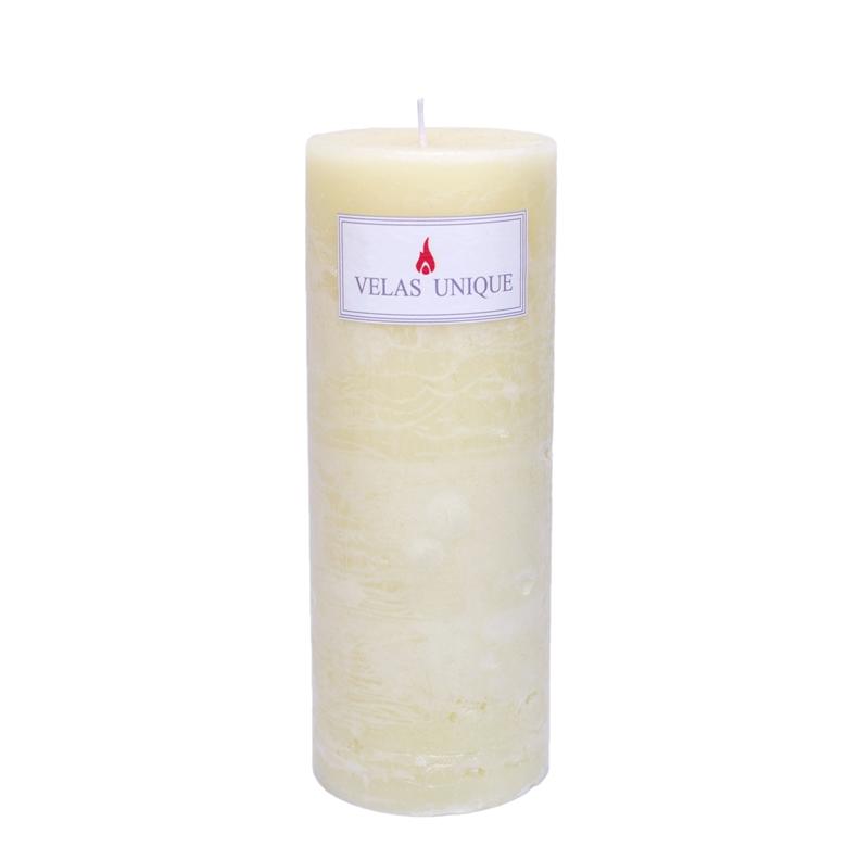 vela cilíndrica 7,5x20 marfim