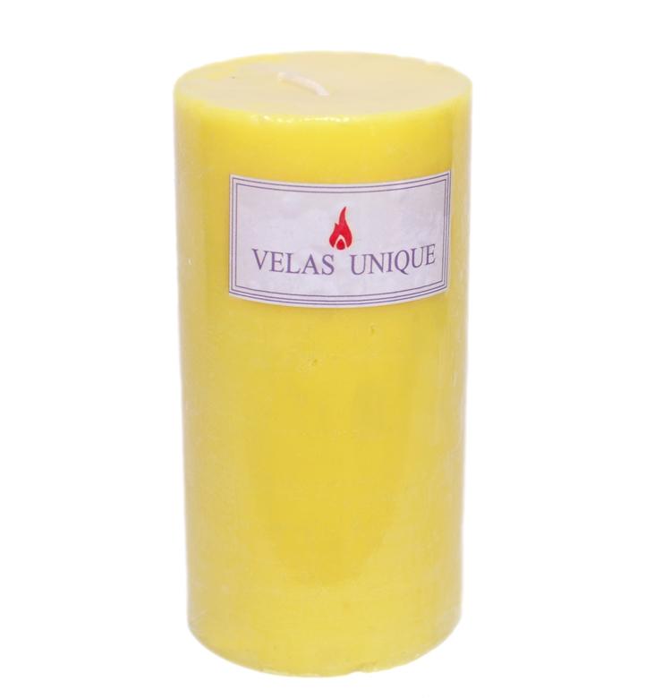 vela cilíndrica 7,5x15 citronela