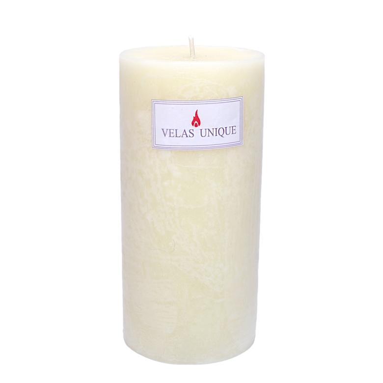 vela cilíndrica 9,5x20 marfim