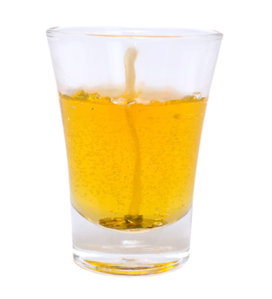Vela copo em gel amarela