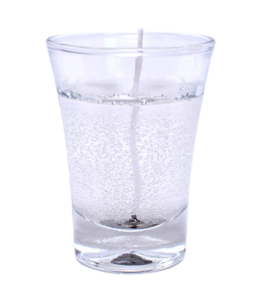 Vela copo em gel transparente