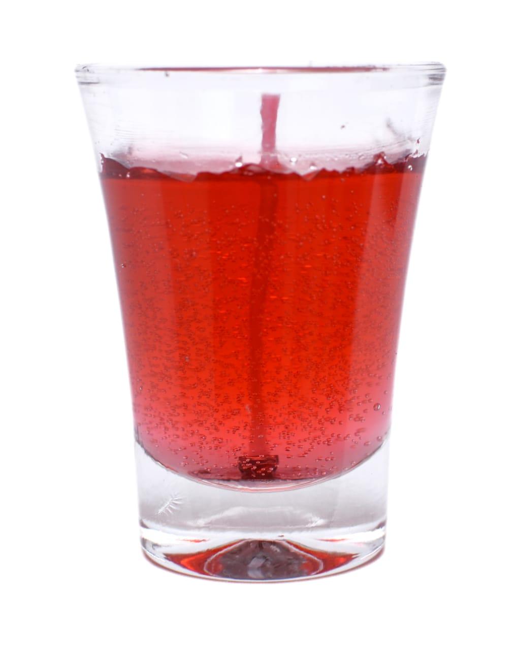 Vela copo em gel vermelha