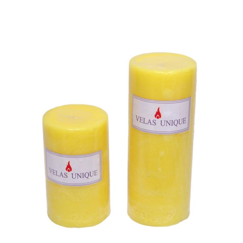 Dupla de velas cilíndricas 6cm citronela