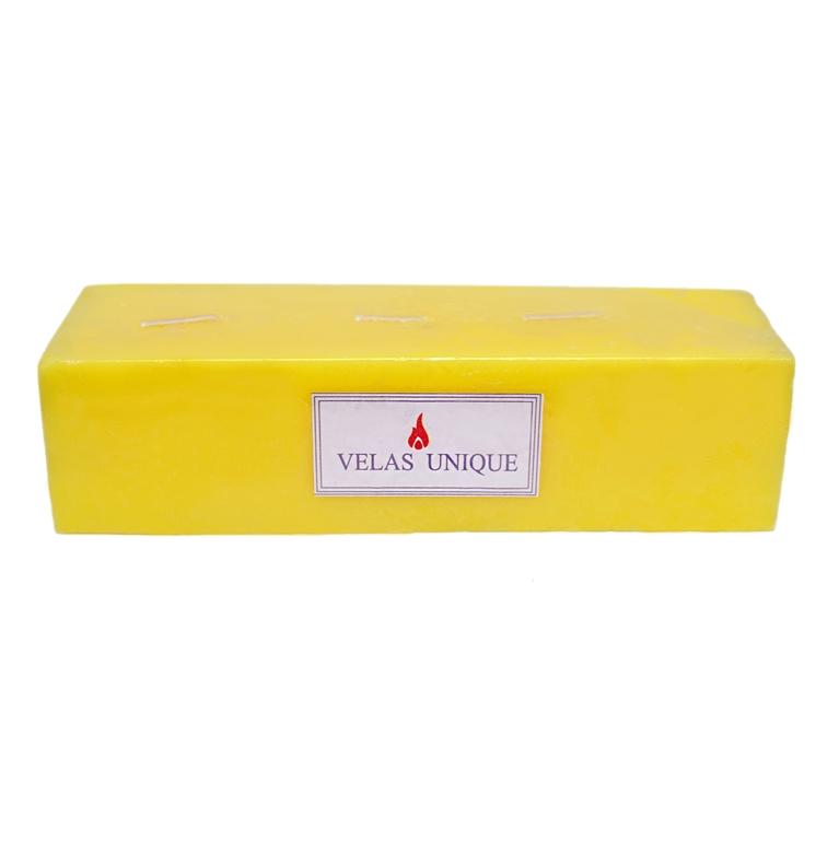 vela retangular 20x6x6 citronela