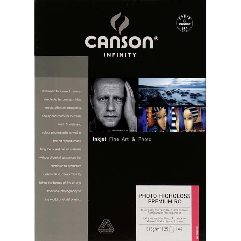 Canson® Infinity Photo HighGloss Premium RC 315 g/m²