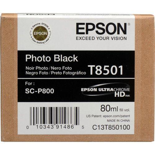 Cartucho de Tinta Epson T850 ULTRACHROME HD (80mL) para Impressora SureColor P-800
