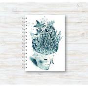 Caderno Flores na Cabeça