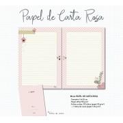 Miolo para caderno PAPEL DE CARTA . ROSA