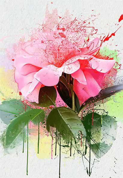Agenda Flor Aquarelada