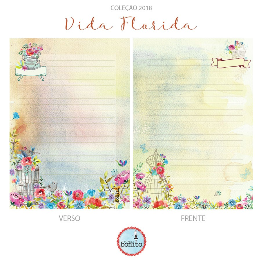 Agenda pronta para decorar . VIDA FLORIDA