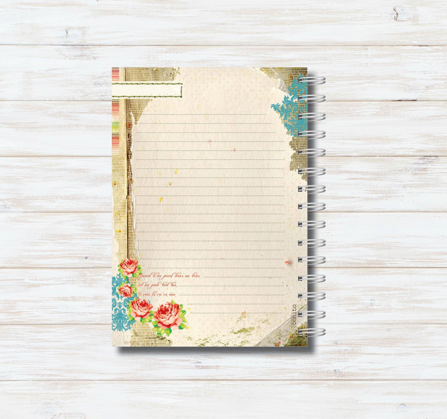 Caderno En Rose