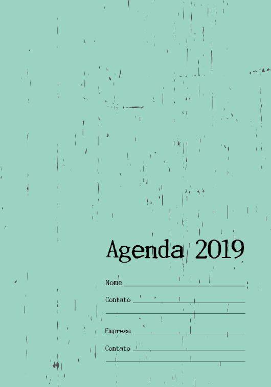Folha de rosto Agenda 2019. Neutra
