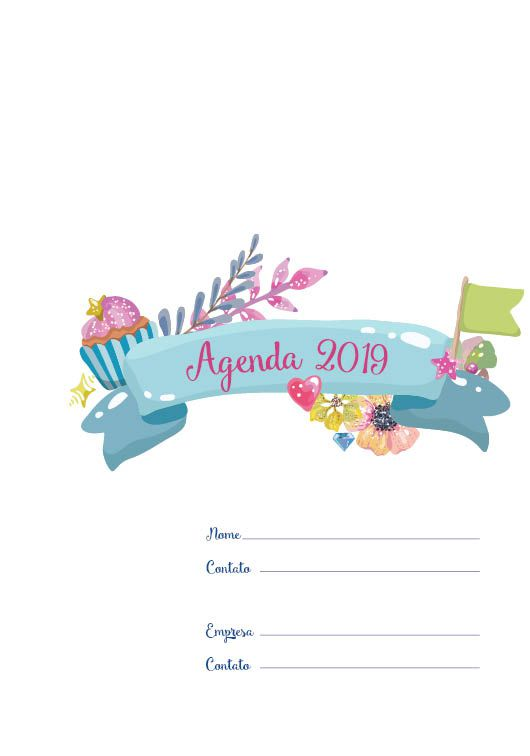 Folha de rosto Agenda 2019. UNI MY LOVE