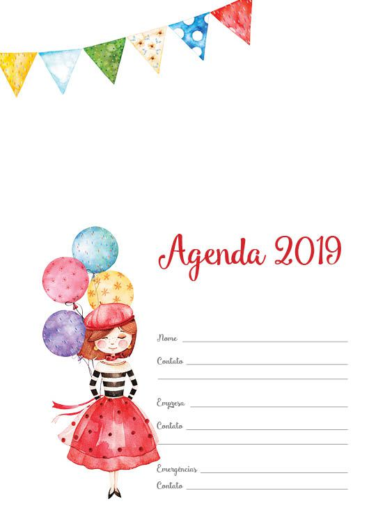 Folha de rosto Agenda 2019. Mon Amour