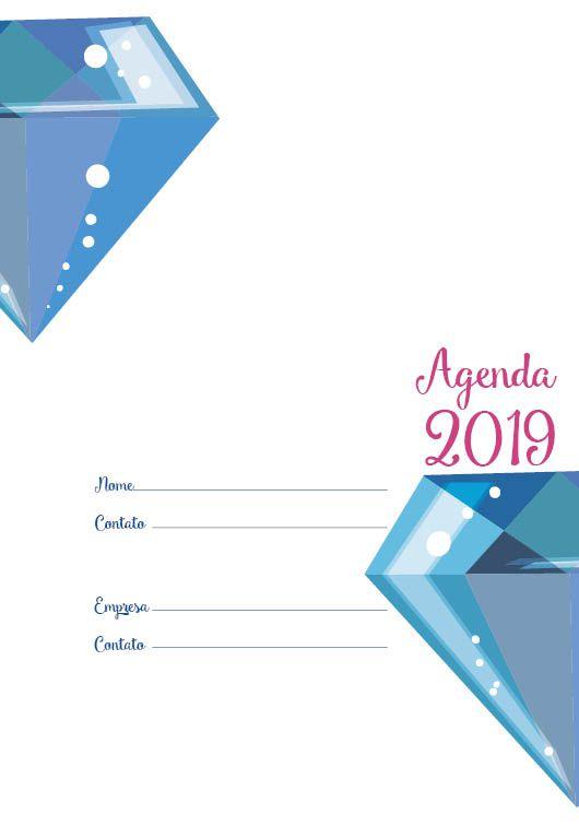 Folha de rosto Agenda 2019 . DIAMANTE